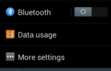Galaxy S II Jelly Bean - Settings